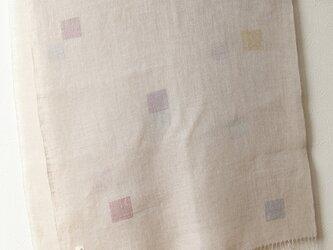 手織りリネン大判ストール リネン×いろいろの画像