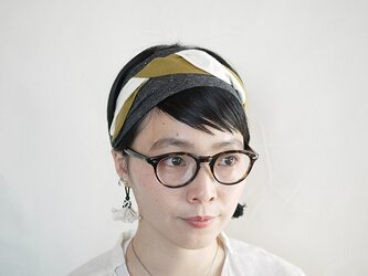 patchwork turban (cotton×linen mix 17ss-a)の画像