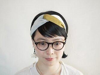 patchwork turban (cotton×linen mix 17ss-f)の画像