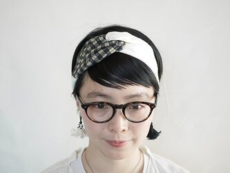 patchwork turban (cotton×linen mix 17ss-h)の画像