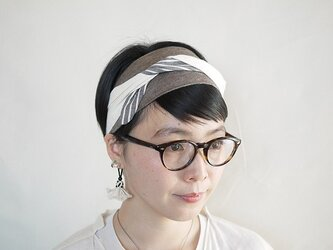 patchwork turban (cotton×linen mix 17ss-j)の画像