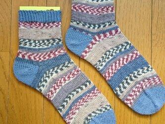 手編み靴下 opal KFS104 アイスランドロピーの画像