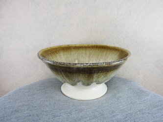 陶器ご飯茶碗(大)茶・白(再販)の画像