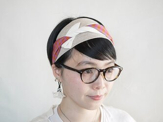 patchwork turban (cotton×linen mix 17ss-c)の画像