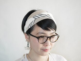 patchwork turban (cotton×linen mix 17ss-i)の画像
