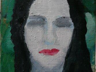 長髪の女の肖像の画像