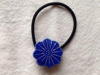 ヘアゴム(ブルー花)Bの画像
