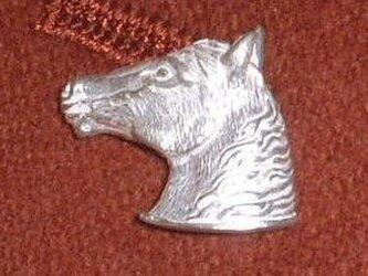 馬 スターリングシルバー  ラペルピン バッチ タイピン lapel004 左向きの画像