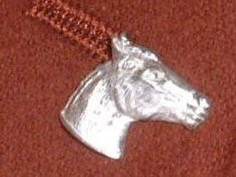 馬 スターリングシルバー  ラペルピン バッチ タイピン lapel005 右向きの画像