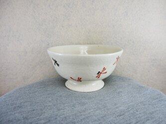 陶器ご飯茶碗(中)赤とんぼの画像