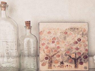 18×18cmパネル・アンティークりんごの画像