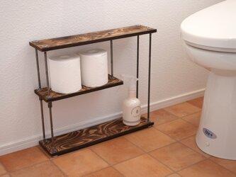 wood iron shelf 400*457*111の画像