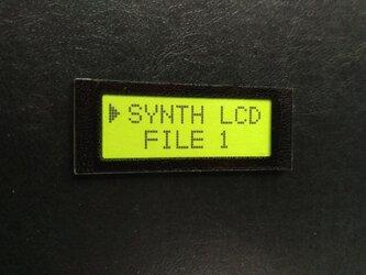 【ネームプレート】液晶LCD・ネームプレート/ライムグリーンの画像