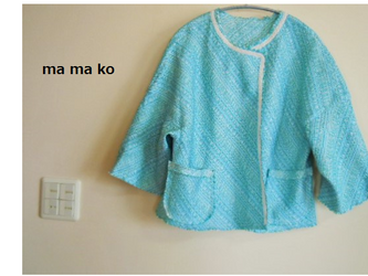 イタリ―製 サマーツイードのボレロジャケットの画像