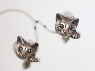 まねき猫イヤリング ピクシー 片耳 / SILVERの画像