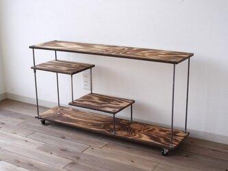 wood iron shelf 470*910*225の画像