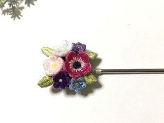 手刺繍かんざし*花の画像