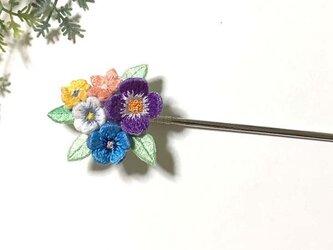手刺繍かんざし*花束の画像