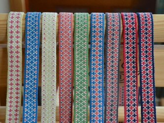 カード織り・リネンコットンのワンコリード用紐のみ 005の画像