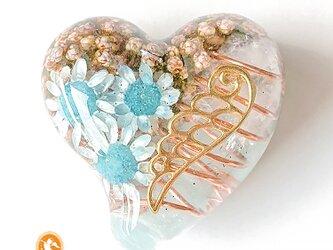 天使のハート アクアマリン オルゴナイト he1013aqu00012の画像