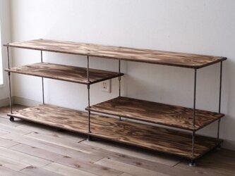 wood iron shelf 440*1200*300の画像