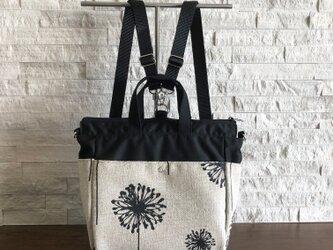 400fa99398fc 4way bag/バックパック/リュック/斜め掛けバッグ/ショルダーバッグ/トート -Dandelion Black