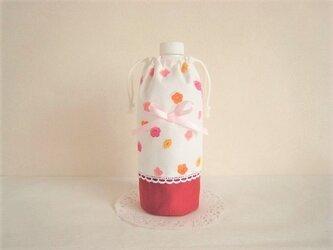 かわいい花柄ペットボトルカバーの画像