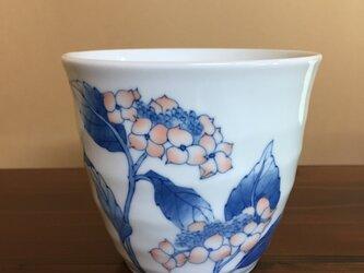 山紫陽花のフリーカップの画像