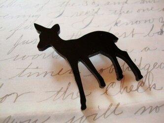 【森のバンビ】 ブローチの画像