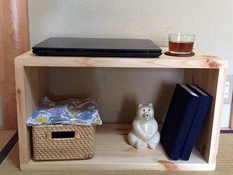オープンボックス W600  クリア  受注生産  シンプルな家具の画像