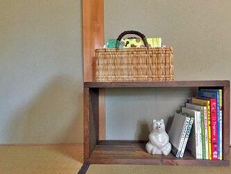 オープンボックス W600  ウォルナット  受注生産  シンプルな家具の画像