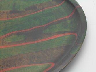 直径60cm・ムクの塗り分け 盆の画像