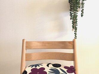 ストッケ トリップトラップ クッション 北欧花柄*紫の画像