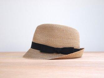 Black Stitched Hatの画像