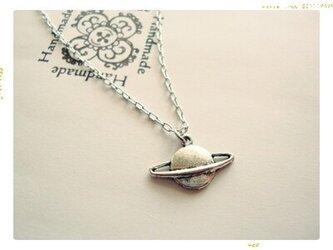 【銀の惑星】 ネックレスの画像