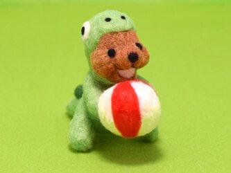 ボールに夢中なクマノザウルスの画像