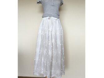 ボーダーレース ギャザースカートの画像