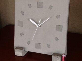 受注製作品】立て掛け型コンクリート置き時計《送料無料》の画像