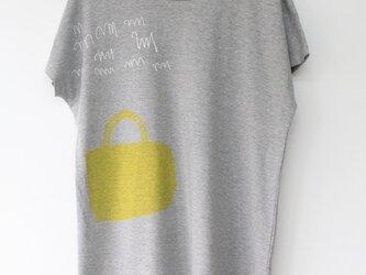 ドルマンロング丈Tシャツ/キイロバッグの画像
