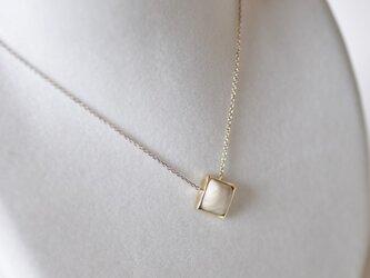 夜光貝Brassネックレス[ダイヤ]の画像