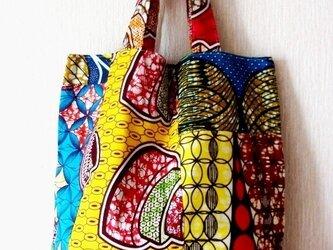 リバーシブル African パッチワーク バッグの画像