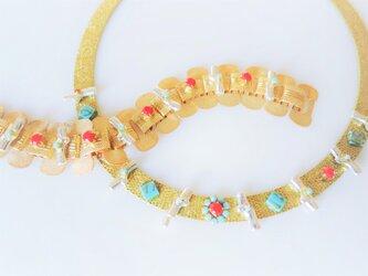ヴィンテージネックレス トリコロール vintage necklace trcl <ncMS-trcl>の画像