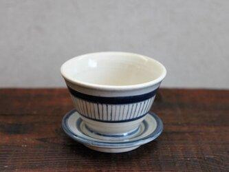 絵付け 小さい湯呑 茶托付き③の画像