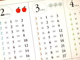 シンプルで覚えやすい「かけ算・九九表」の画像