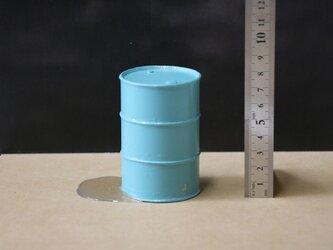 017 ドラム缶200リットルタイプ エージング塗装 液漏れエフェクト付きの画像