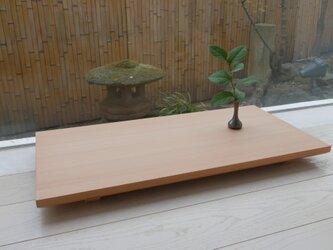 シンプルな平座卓の画像