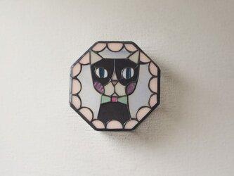 ネコ 壁掛けランプ フリル薄いピンクの画像