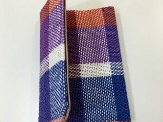 手織りリネン カードケースの画像