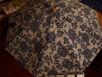 浴衣の反物日傘の画像