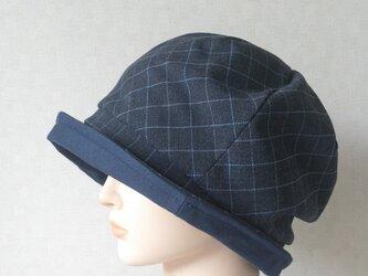 魅せる帽子☆ふんわり♪サイドベルト付きリバーシブルクロッシュの画像